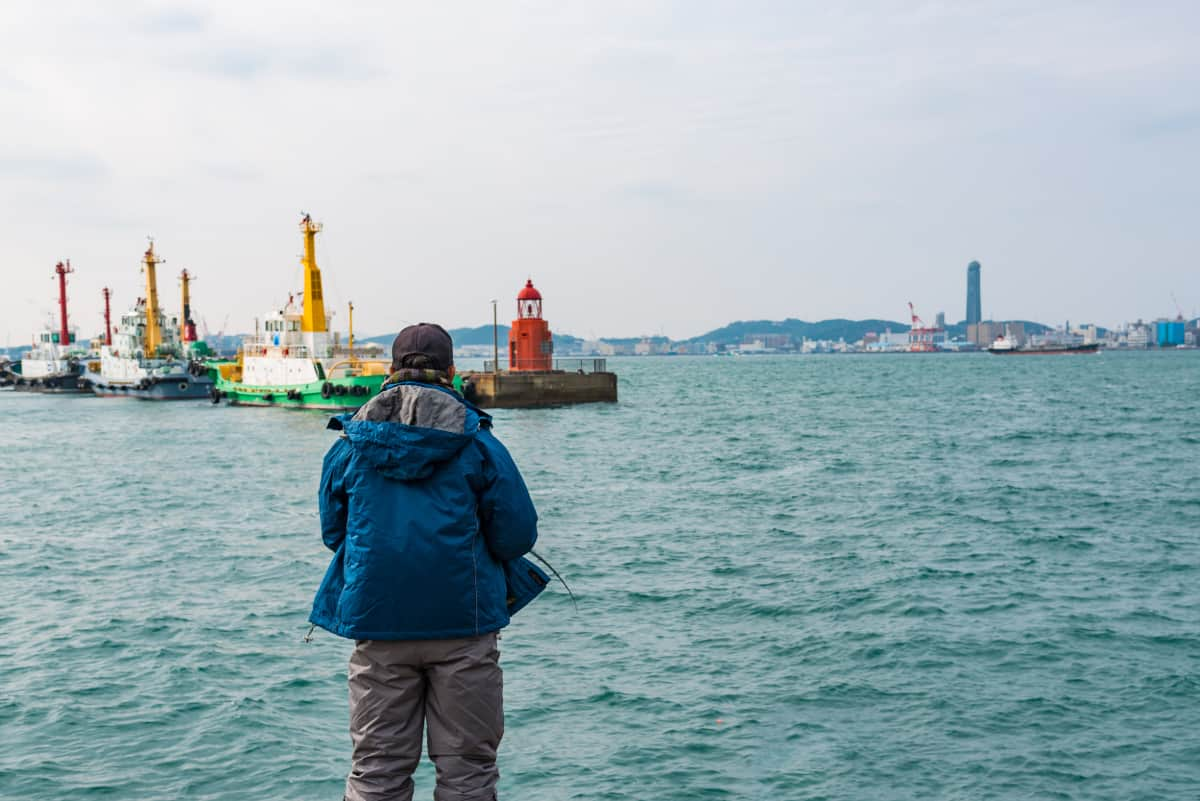 冬の福岡県旅行、男性のコーディネートポイント