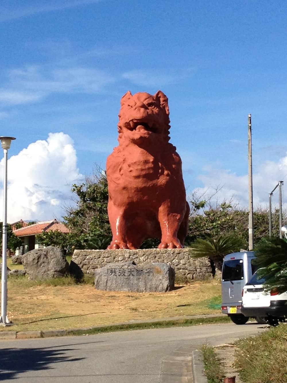 記念撮影は灯台&大獅子前で!