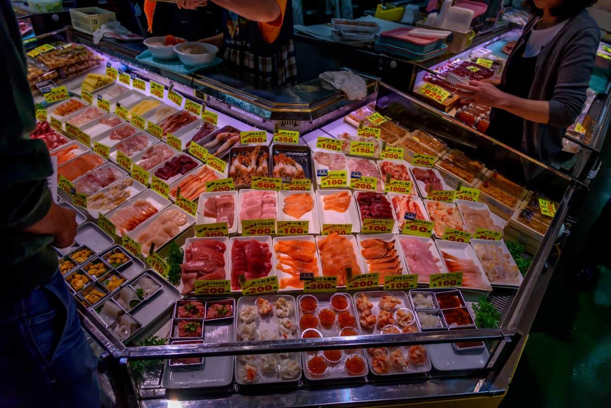 北海道の中でも鮮度抜群の水産物