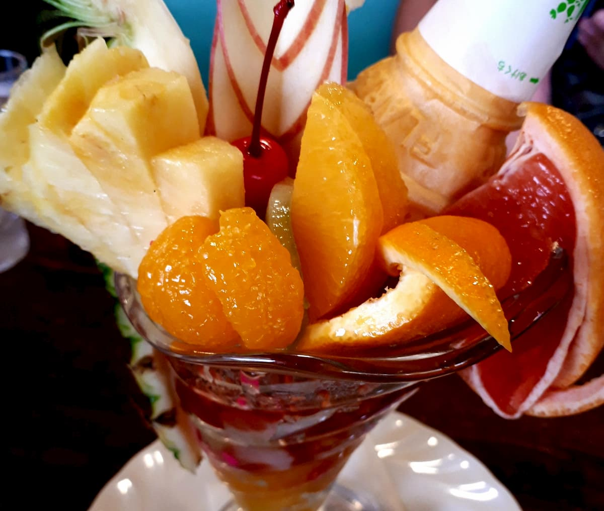 フルーツパーラーむらはたのフルーツパフェ